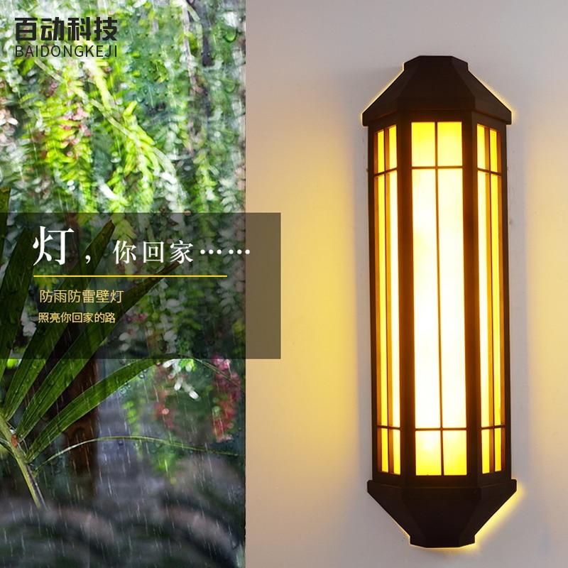 Jardín grandes luces de pared al aire libre E27 led alumbrado público impermeable imitación de mármol lámpara de pared candelabro de hotel Departamento puerta lámpara