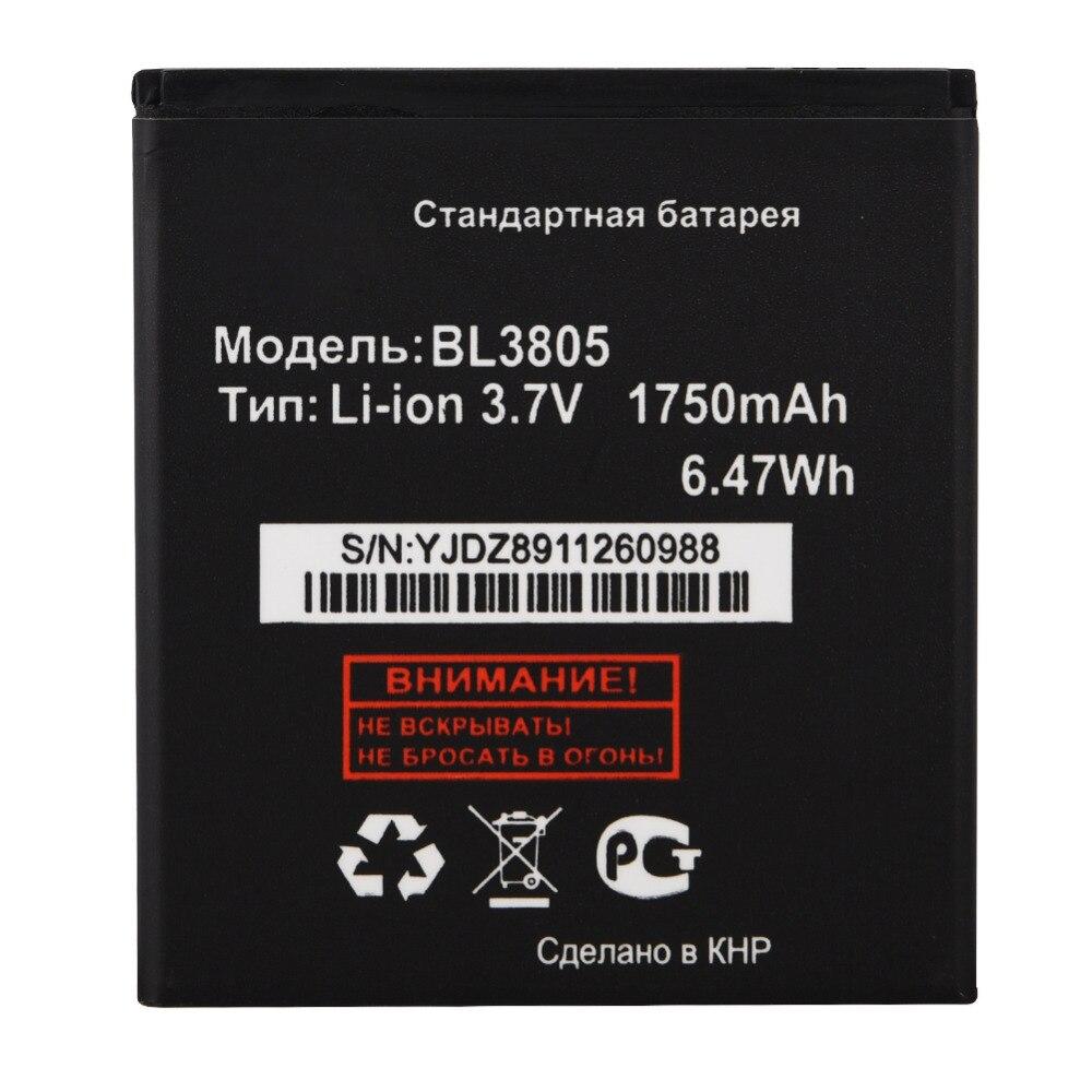 Аккумулятор для Телефона FLY IQ4404 IQ 4404 1750 мАч, сменный аккумулятор BL3805 BL 3805, 1 шт.