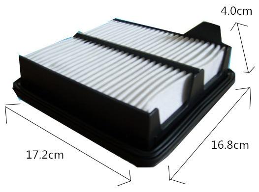 Melhor preço por atacado wix49460 tomada de fábrica 17220-rb6-z00 branco não tecido filtro de ar do carro aca245 para honda 172*168*40mm