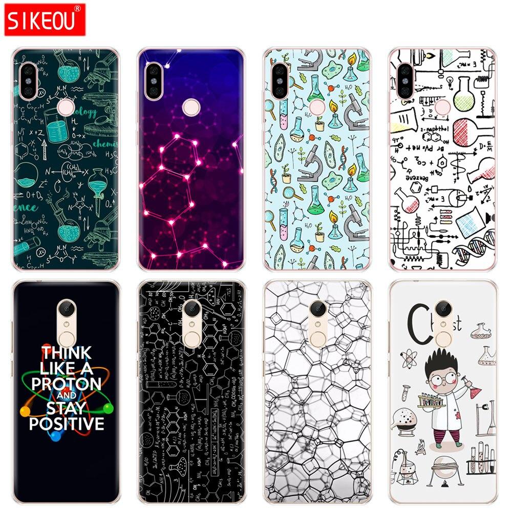 Silikon Abdeckung telefon Fall für Xiaomi redmi 5 4 1 1 s 2 3 3 s pro PLUS redmi note 4 4X 4A 5A Biologie und Chemie