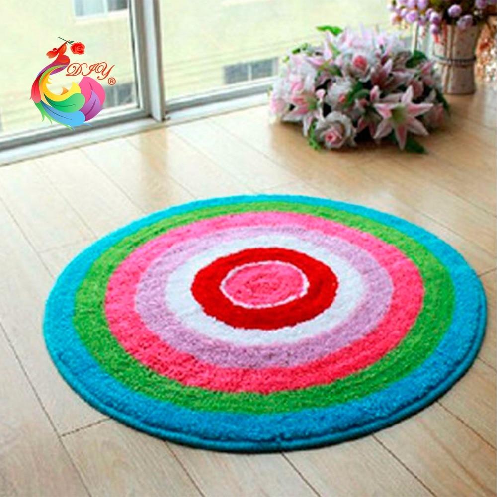 Kits de costura con aguja de lengüeta para alfombra hecha a mano alfombra circular hilo de alfombra para herramienta para tejer kit en una maleta cojín de alfombra hecha a mano