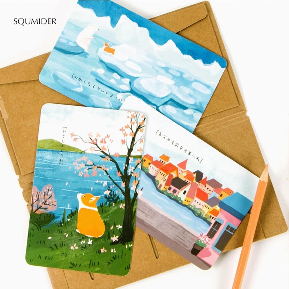 Оригинальная мультяшная открытка, поздравительная открытка, День учителя, Рождество, Новый Год, Красивые поздравительные открытки