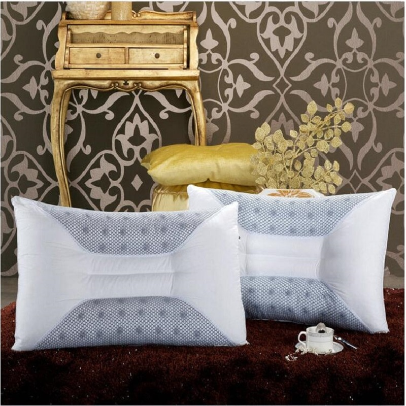 UBRUSH-وسادة كاسيا لحماية الرقبة ، ناعمة ، جيدة للنوم للمنزل أو الفندق ، مقاس 48 × 74 سنتيمتر