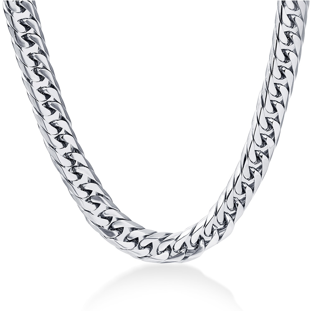 NIBA 8mm wide Men's Chain Collana Uomo 24inch Stianless Steel silver plated Cadenas Hombre Necklace