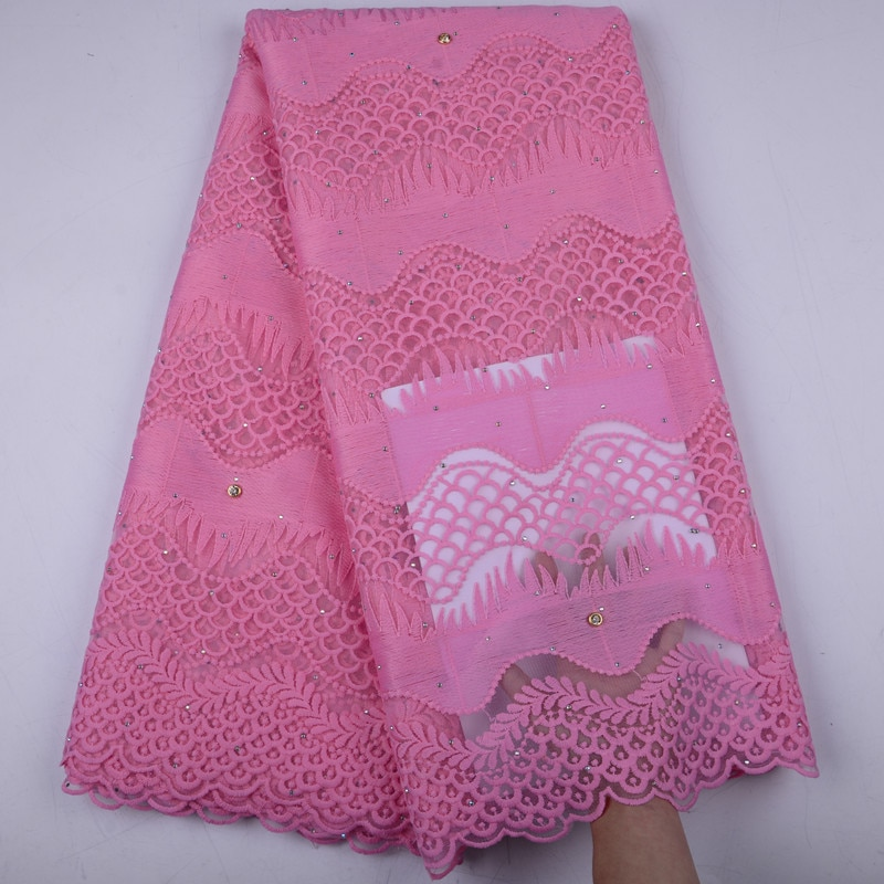 Nigerian Lace Fabrics High Quality Tulle African Laces Fabric Wedding African French Tulle Lace For Party Dress A1504