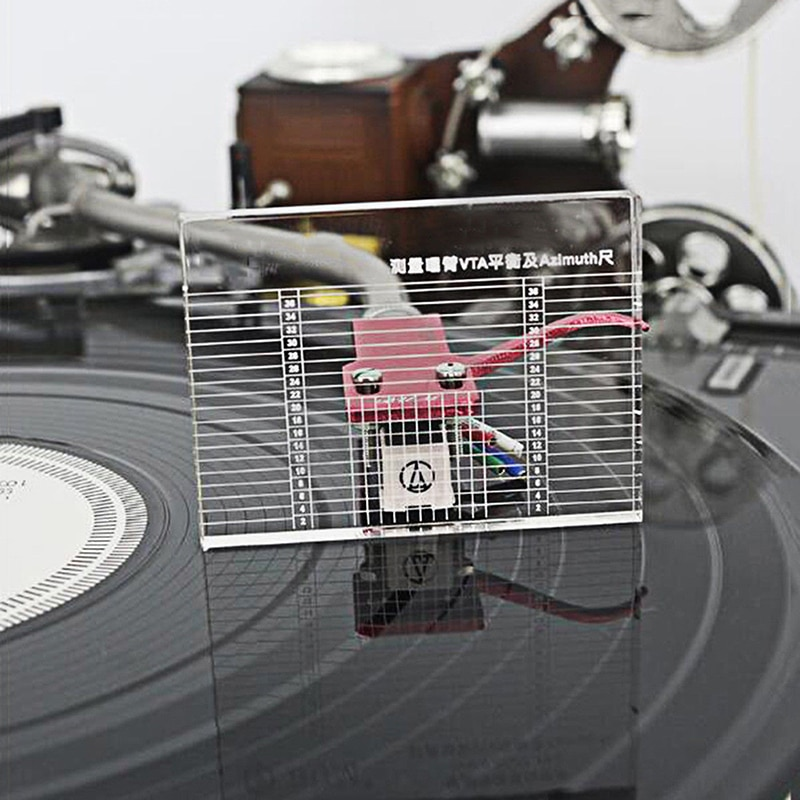 LP reproductor de registro de vinilo de medición Phono Tonearm VTA/cartucho regla azimuth Balance cartucho regla azimuth Tocadiscos