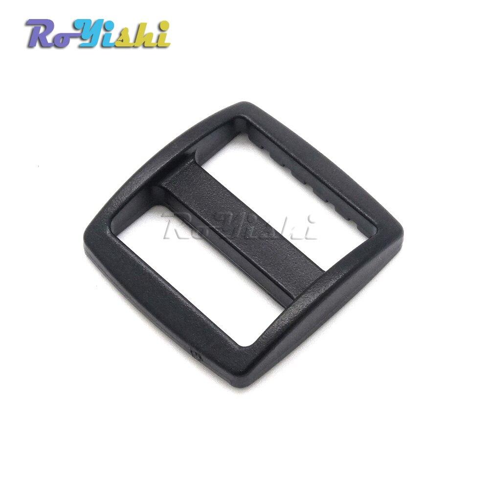 """100 unids/pack 1 """"de plástico negro deslizador Tri GLIDE ajustable hebillas tamaño de la correa 25mm"""