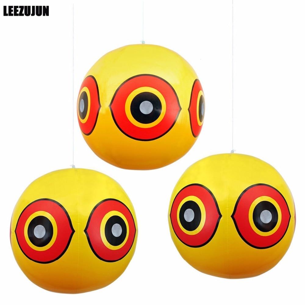 Репеллент для отпугивания птиц, воздушные шары для глаз, для остановки проблем с вредителями, быстрый и надежный визуальный отпугиватель, ж...