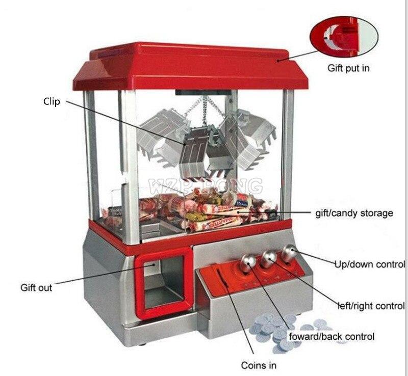 Nueva máquina de grúa operada por monedas, muñeca de juguete, máquina grabadora de dulces, máquina recreativa Retro para carnaval, máquina de golosinas para niños, juguete