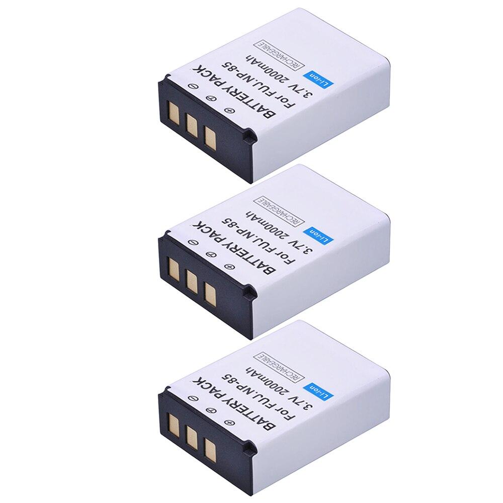 3pc 2000mAh NP-85 NP85 NP 85 Cámara recargable batería para Fujifilm S1 SL1000 SL240 SL245 SL260 SL280 SL300 cámaras
