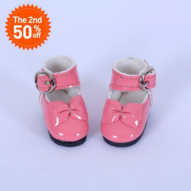 Zapatos Bjd para 1/8 Lati Yosd Pukipuki BJD zapatos de cuero de cuerpo alrededor de 2,9 cm de longitud ancho 1,2 cm accesorios para muñecas