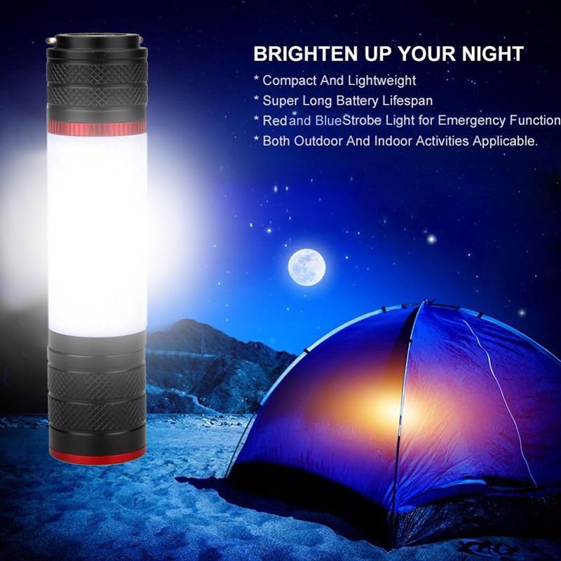 Linterna LED de Camping T6 con imán, luz para tienda aire libre, luz de emergencia, 6 modos, linterna para 18650/AAA