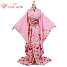 Puella Magi Madoka Magica Mami Madoka Maiko Kimono Yukata Uniforme Halloween Cosplay Costumes Pour Femmes Adultes Sur Mesure
