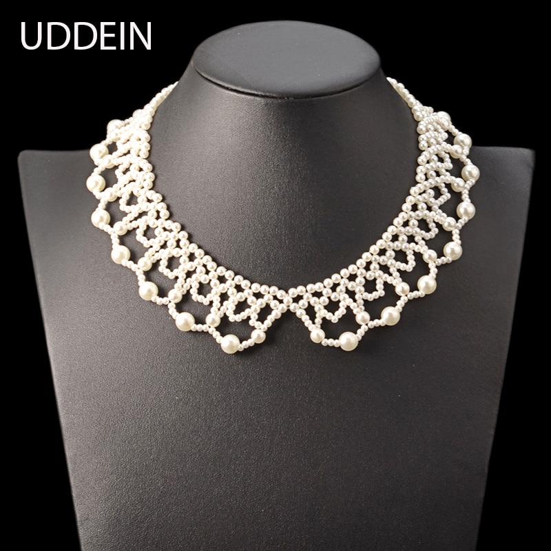 Collar y colgante UDDEIN de moda a precio grande, joyería de perlas simuladas, joyería india de boda nigeriana, maxi collar
