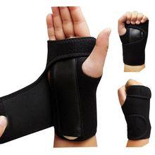 1pc attelle utile entorses arthrite bande ceinture canal carpien main poignet soutien orthèse solide noir