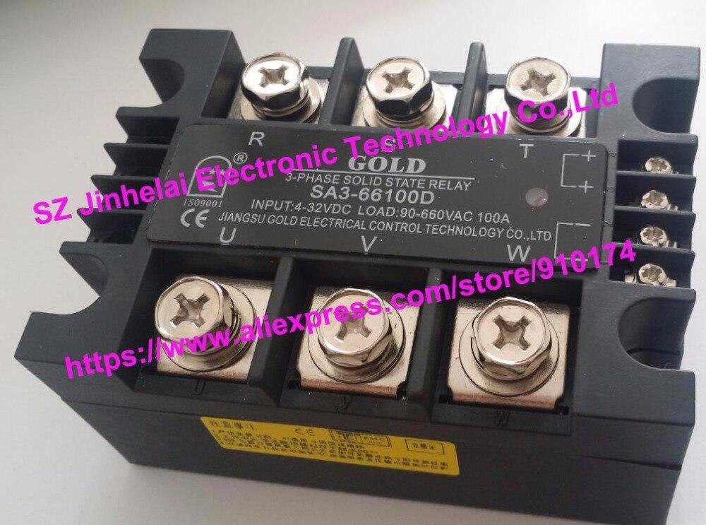 SA3-66100D SA366100D nuevo y original de Oro 3 fases relé de estado sólido 4-32VDC, 40-660VAC 100A