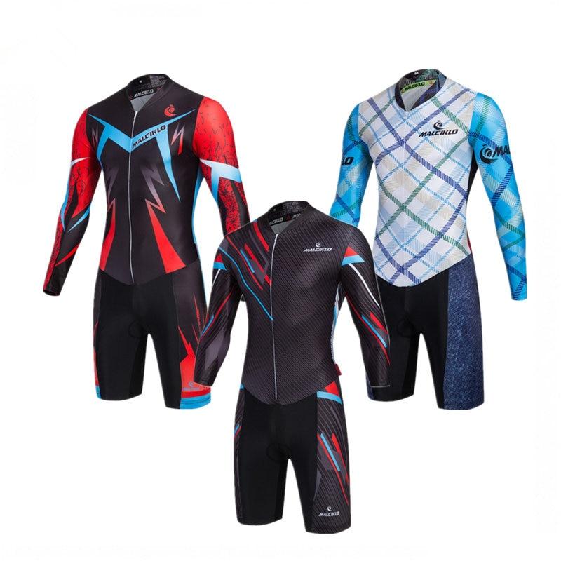 Malciklo Pro Team-Conjuntos de camisetas de manga larga para Ciclismo, traje de triatlón para Ciclismo 2018