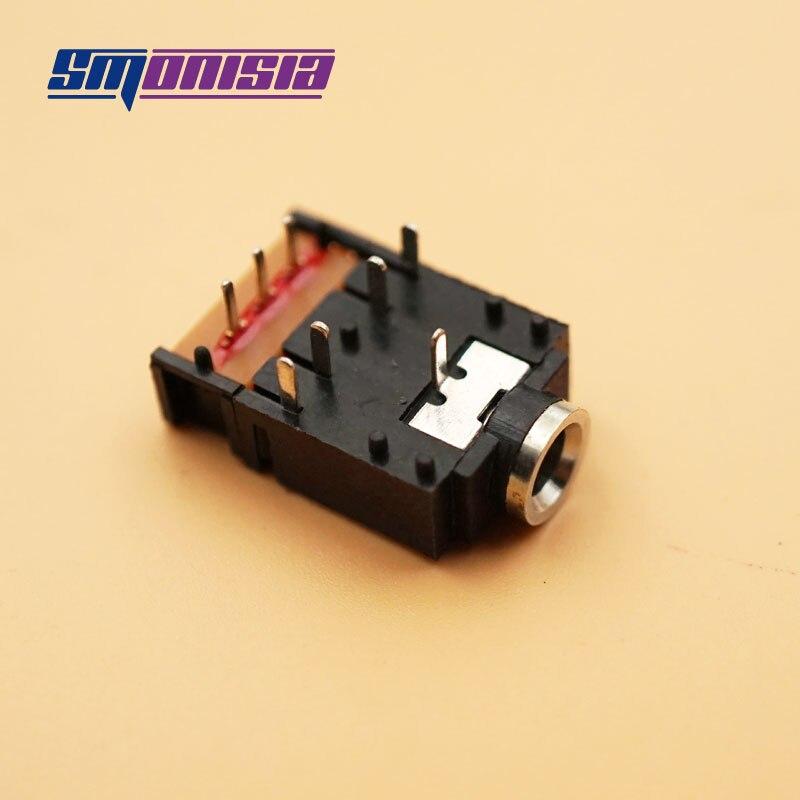 50 pcs 3.5 Conector de Fone De Ouvido Microfone PJ-307/3F07 8 P Feminino de Áudio Estéreo Jack 8-pin DIP Switch