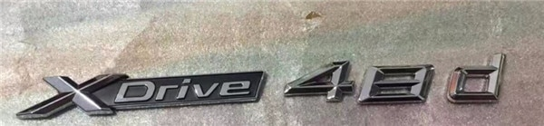 Un par de ABS cromado coche XDrive Logo embellecedor estilo pegatina X unidad para BMW x-drive 48d para x1 X3 X4 X5 X6