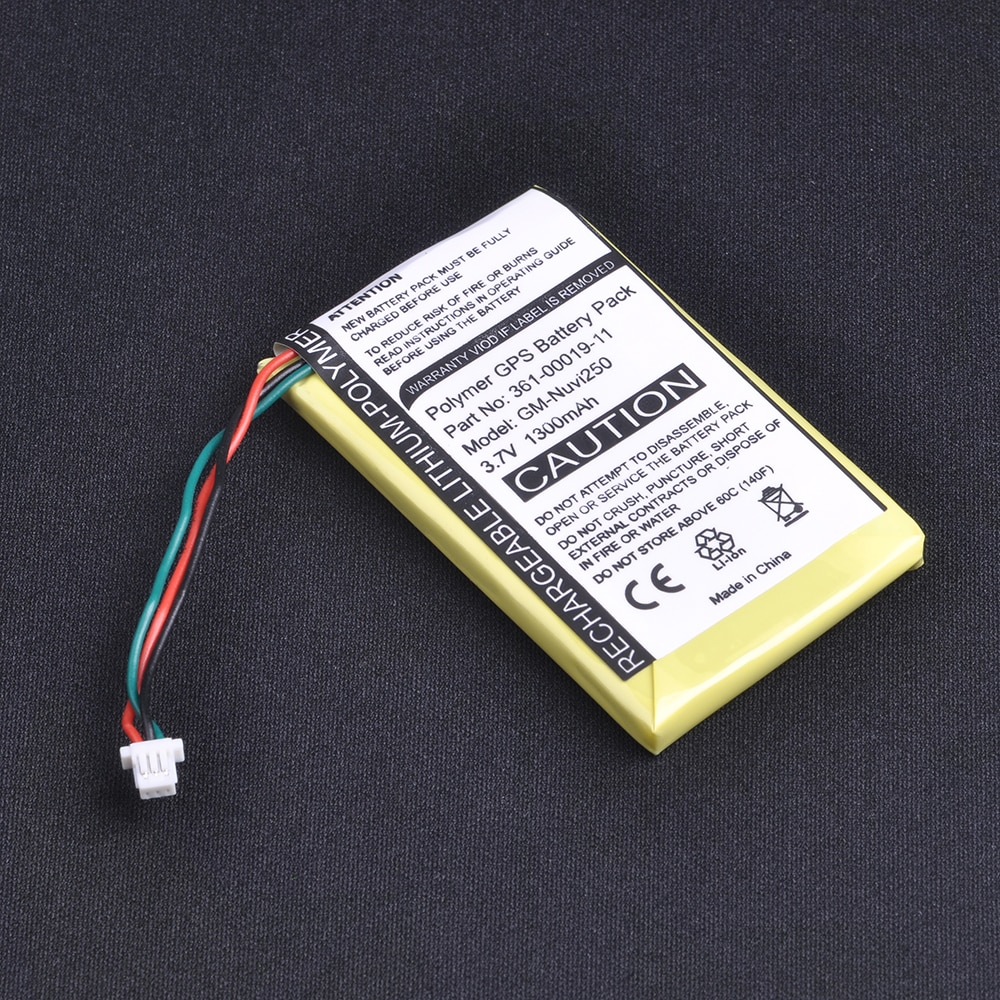 1Pc 1300mAh 3,7 V Batería de GPS para Garmin Nuvi 200.200 W 205.205 W 205WT 250 252w 265w