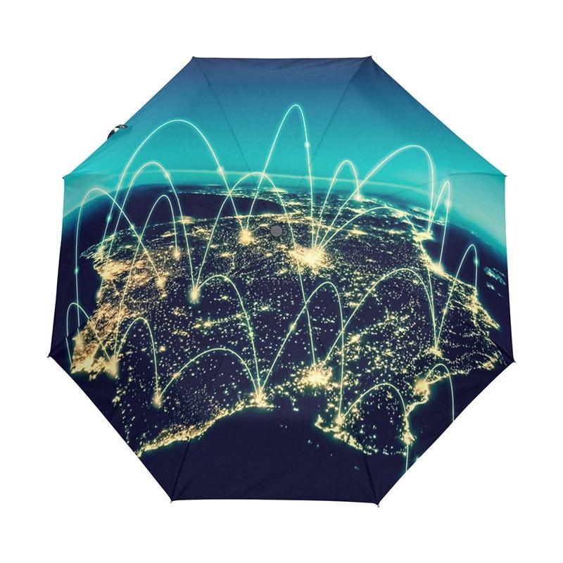 Mapa del mundo físico ilustración paraguas lluvia mujeres sol lluvia paraguas plegable automático hombres paraguas pequeño con recubrimiento negro