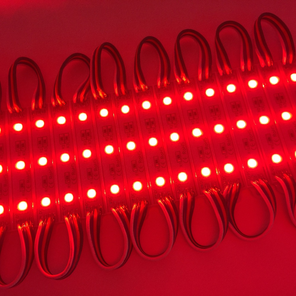 100pcs/lot 5050 RGB LED Module Light for Backlighting Outside Advertising Channel Sign Letters Waterproof IP65 12V DC