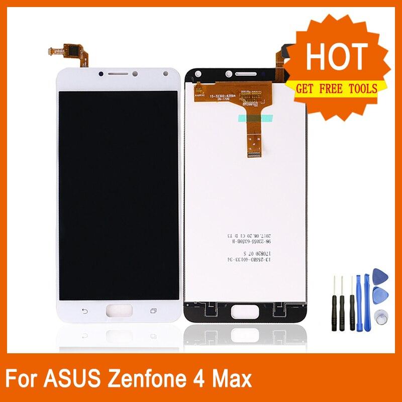 "Para ASUS Zenfone 4 max ZC554KL 5,5 ""LCD Panel pantalla táctil digitalizador montaje para ZC554KL reemplazo + gratis herramientas"