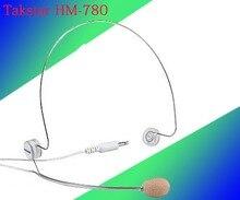 5 pcs/Lot Takstar HM-780 casque micro mince en acier fil Design léger pour scène enseignement amplificateur TV interview