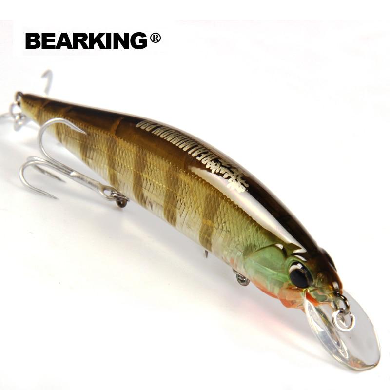 Bearking Bk17-M120 Minnow Iscas De Pesca 1 PC 120mm 18g 0-18.M Qualidade Professional Minnow suspendendo Isca Hard Bait com 3 Ganchos