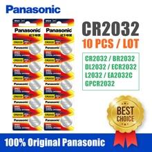 Panasonic Original 10 pcs/lot cr 2032 piles bouton 3 V pile au Lithium pour montre calculatrice télécommandée cr2032
