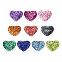 10Pcs 8Mm Bling Enamel Hart Slide Charms Fit Voor Pet Collar Polsbandjes Armband Vrouwen Sieraden Maken SL670 Kerst geschenken