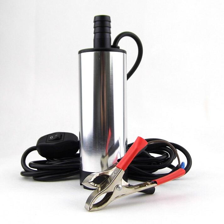 12V y 24v DC MINI Diesel combustible agua coche Camping pesca bomba de transferencia sumergible al por mayor 38 mm envío gratis