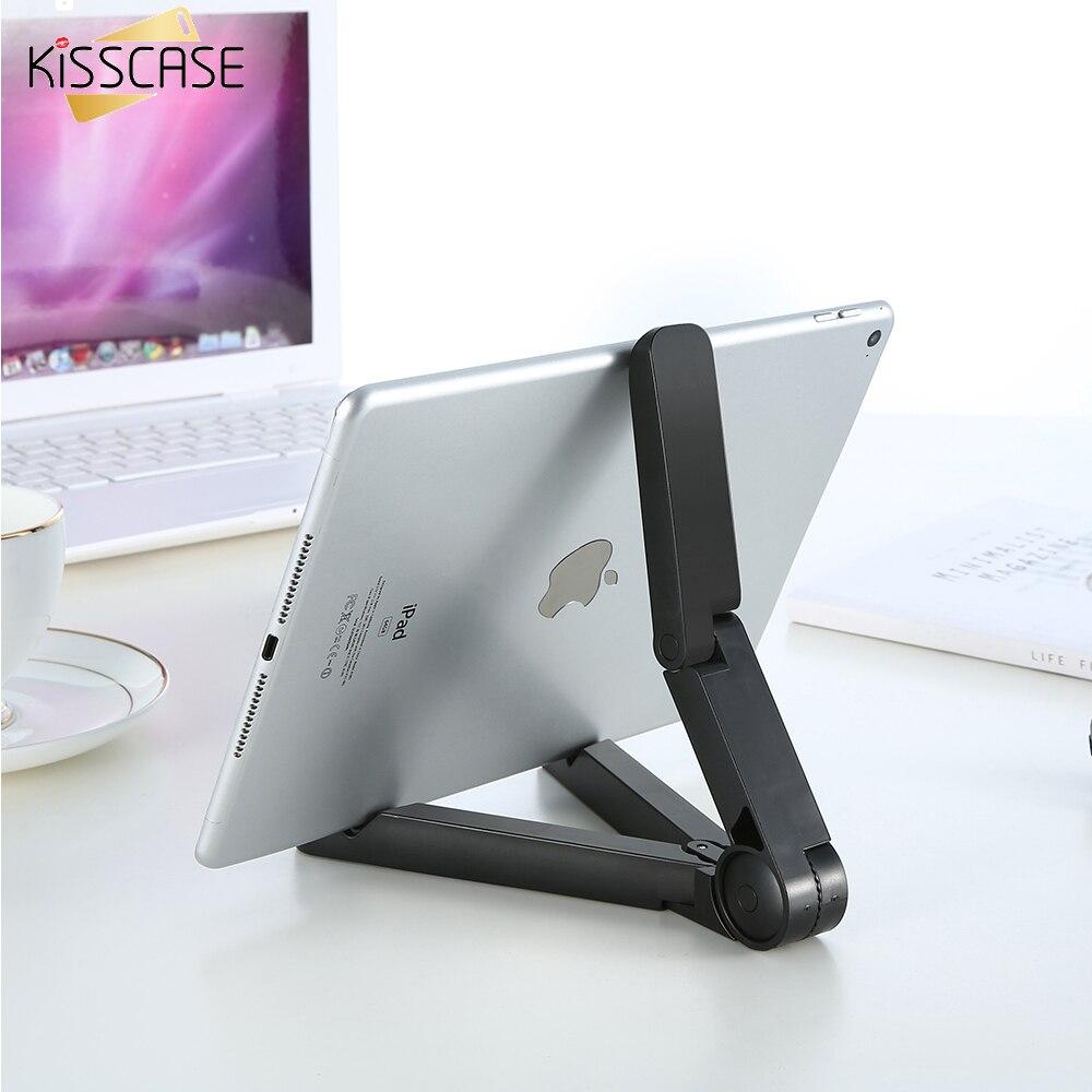 KISSCASE soporte Universal para teléfono de 360 grados de rotación plegable tableta PC plegable perezoso para iPad Air Mini 1 2 3 4 Para Samsung