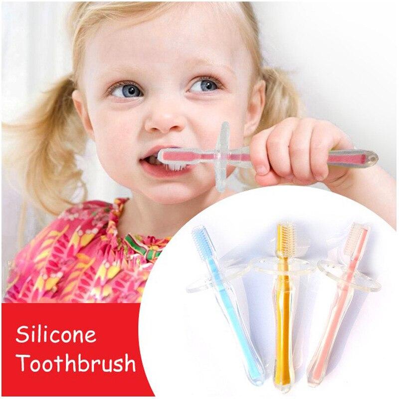 فرشاة أسنان سيليكون ناعمة للتدريب ، 200 قطعة ، أداة أسنان للأطفال ، العناية بالفم ، حلقة تسنين