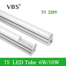 Ampoule LED Tubes T5 1ft 6W 2ft 10W Intégré Tubes LED T5 24LED s 48LED s SMD2835 LED très brillante Lumières Fluorescentes 220V 240V