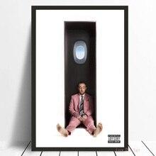 랩퍼 r.i.p 맥 밀러 수영 음악 가수 스타 포스터 벽 아트 캔버스 회화 벽 그림 거실 홈 장식