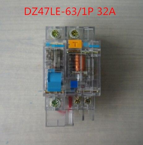 Disyuntor de fugas de tierra transparente DZ47LE 32A 1 P C32 230 V