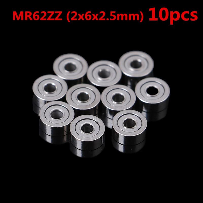 Rodamientos de bolas de precisión Blindados de Metal MR62ZZ MR83 693ZZ, 10 Uds. Al por mayor (2x6x2,5mm)