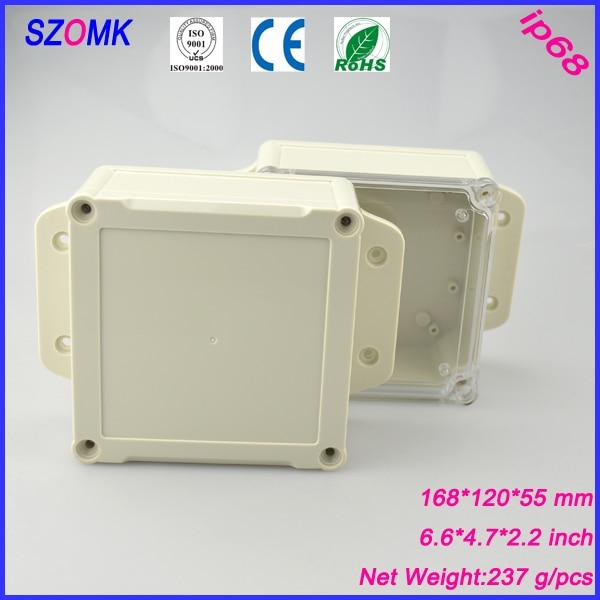 1 unidad de carcasa electrónica ip68 abs para PCB con cubierta sólida 168*120*55mm ip68 caja de conexiones impermeable para electrónica diy