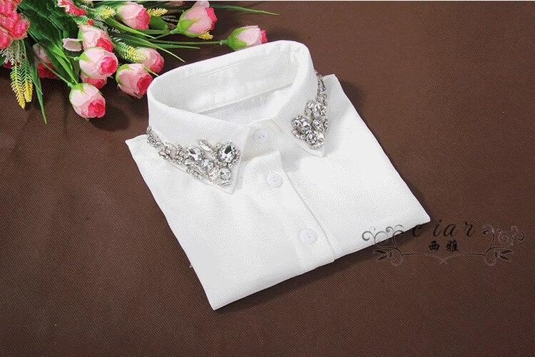 Cuello de algodón de cristal de moda falso de gasa camisa collier Lencería collar de encaje medio saiving camisa cuenta medio Collar de ahorro