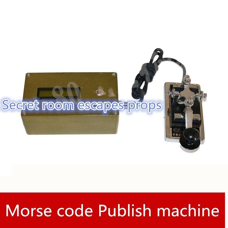 9527 Juegos de la vida real sala de escape accesorios código Morse desbloquear accesorios para el órgano radio estación publicar máquina sala de escape juego