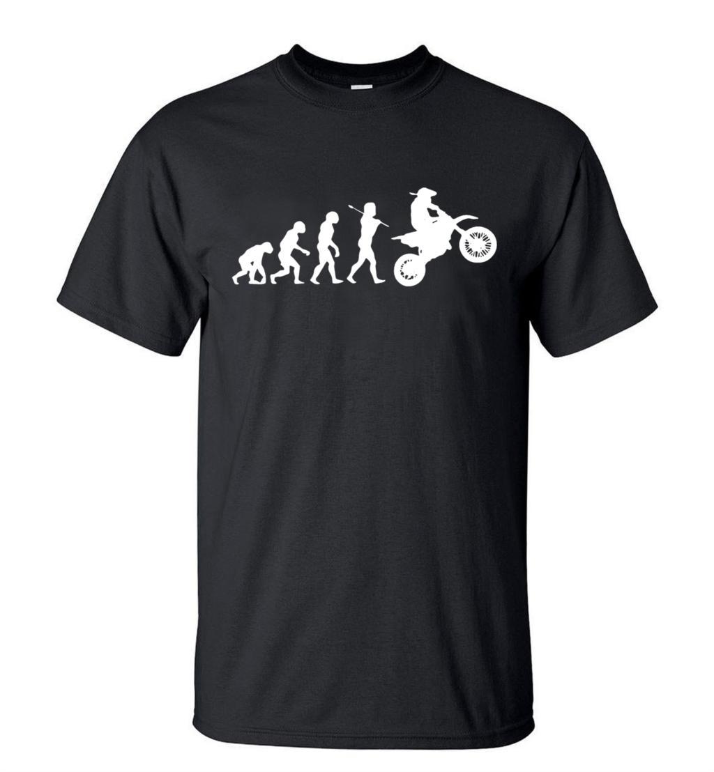 Moto de cross divertida evolución motocross hombres camiseta 2020 verano moda manga corta cuello redondo Hipster camiseta Casual parte de arriba de estilo hip hop Tees