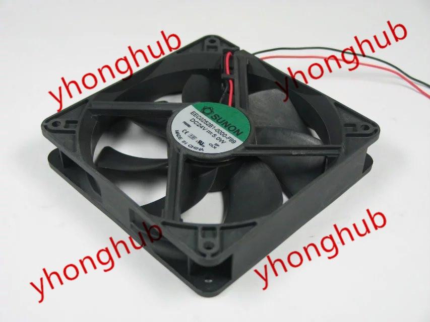 SUNON EEC0252B1-0000-F99 24V DC 5,0 W 120x120x25mm ventilador de refrigeración de servidor