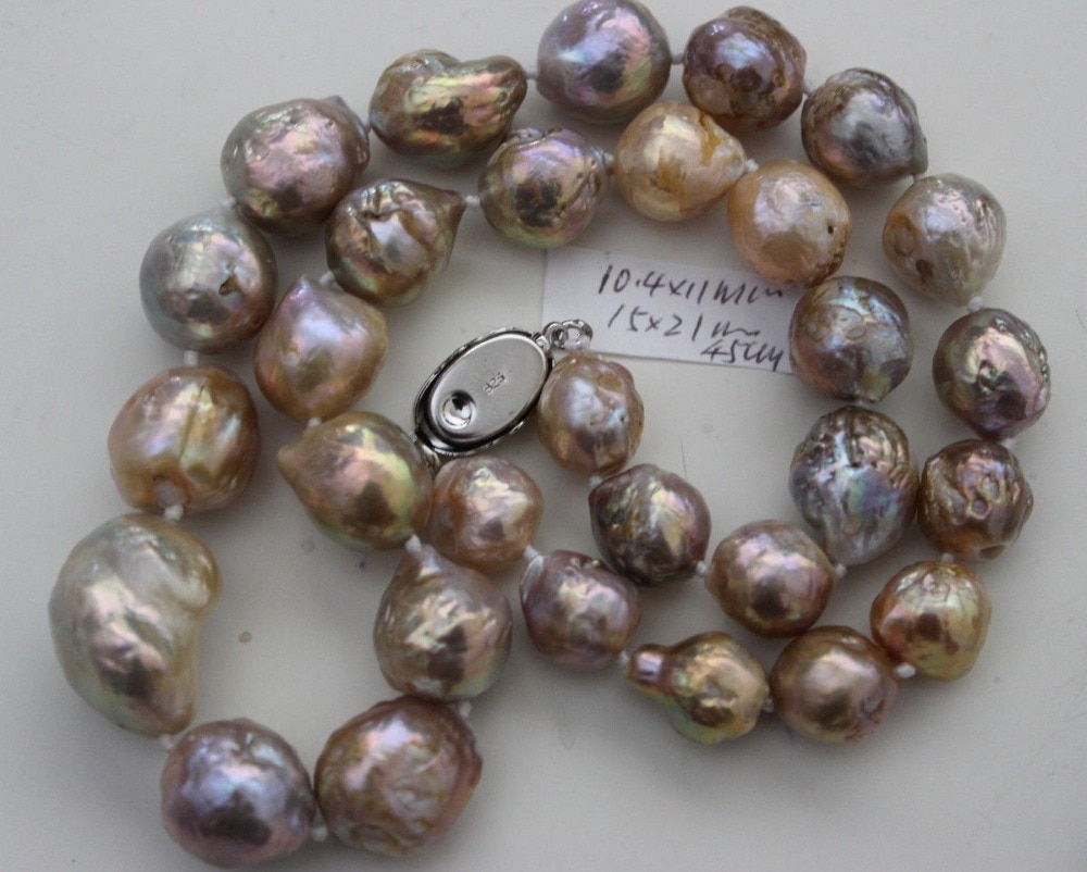 AA 13-15MM perla Kasumi collar 43CM de