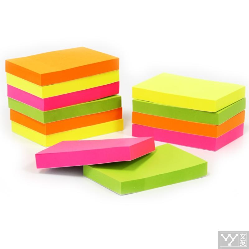 Memo pad Stationary Deli scrapbooking paper cute School & Office supplies korean Fluorescent panda Colored diary Paper Stickers