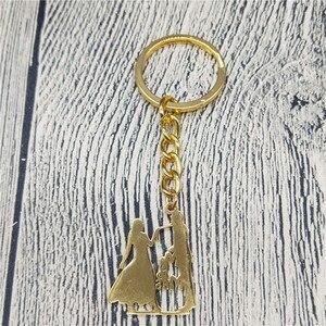 New Family Keychain Stainless Steel Lovers Couple Pendant Keychain Mrs Dancer Keychain Figure Jewellery