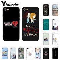 Yinuoda vous êtes ma personne gris anatomie bricolage impression étui de téléphone pour iphone 11 Pro Max 8 7 6 6S Plus X XS MAX 5 5S SE XR
