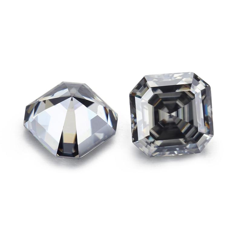 أحجار كريمة من Syn. اللون الرمادي 7x7 مللي متر قطع حجر مويسانيت فضفاض لصنع المجوهرات منتجات جديدة