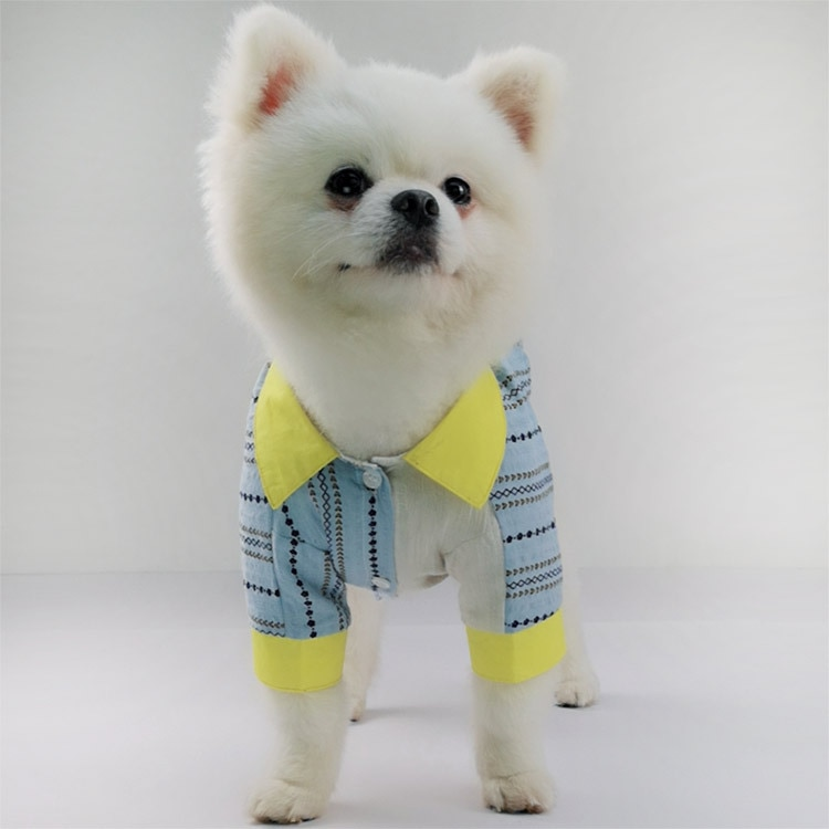 Retazos de perro mascota de verano perro camisa abrigo blusa XS-2XL Pomeranian Bichon Schnauzer Pug francés Bulldog Clotes perro disfraz