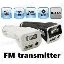Kit de voiture pour écran LCD   Couleur noire, multifonction, lecteur MP3, transmetteur FM, modulateur, entrée AUX, support, disque U, chargeur USB, 2 couleurs pour option